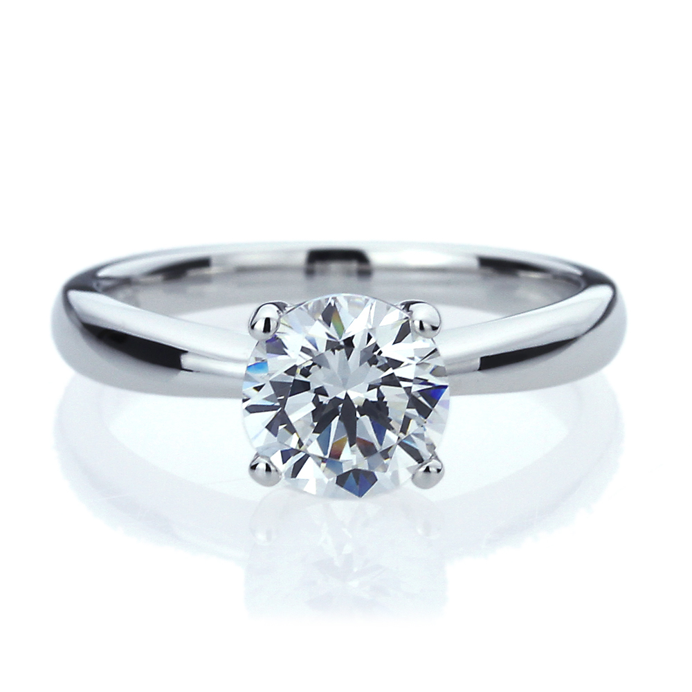 7mm platinum plated silver 1 5ct cz solitaire wedding