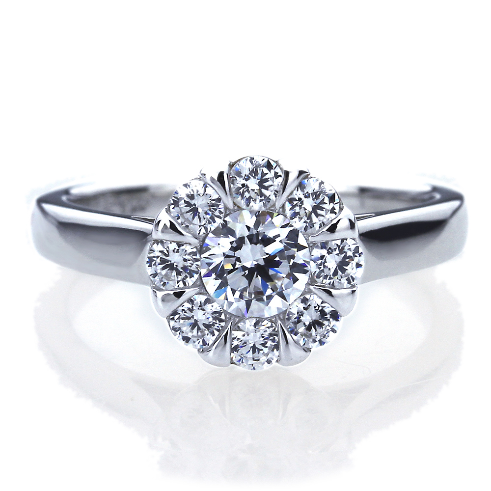 women platinum plated silver 1ct cz illusion set engagement ring set. Black Bedroom Furniture Sets. Home Design Ideas
