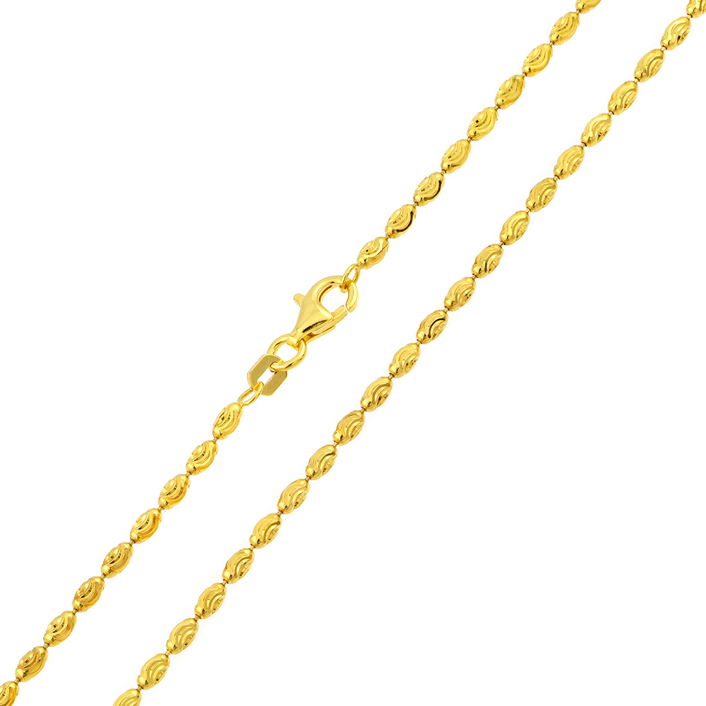 2 2mm 925 sterling silver bead chain necklace gold