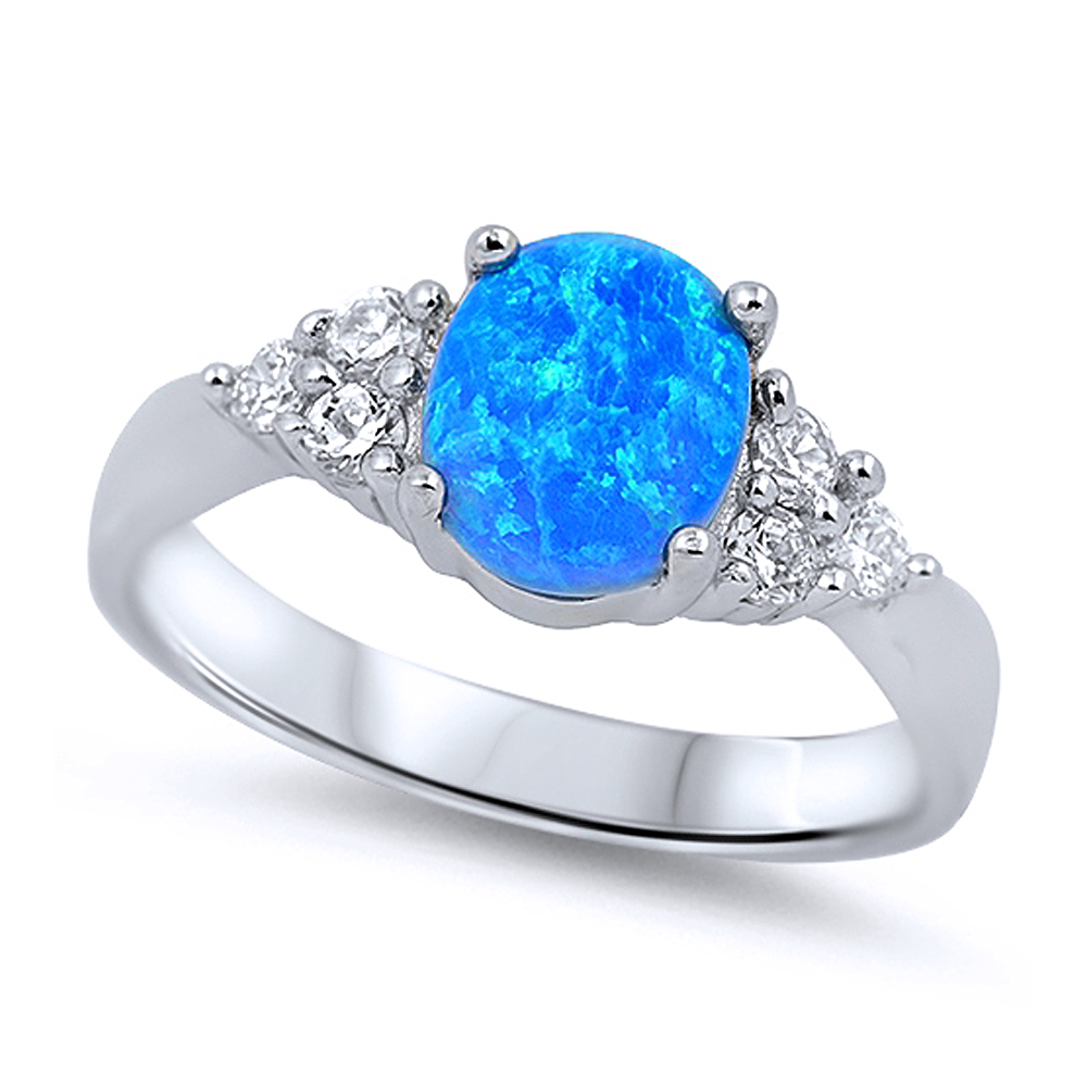 Ladies Blue Stone Rings