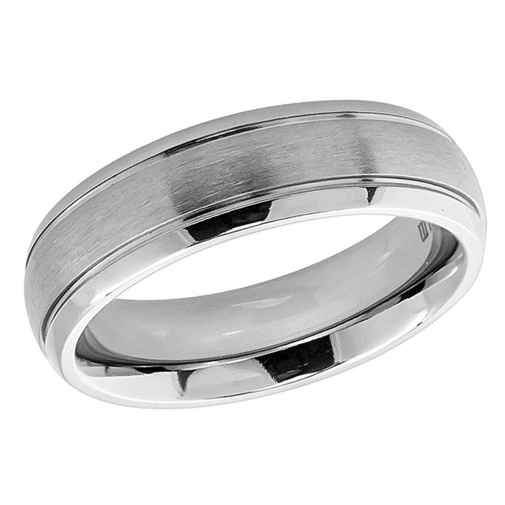 Men's 6mm Titanium Wedding Band Engagement Ring Domed