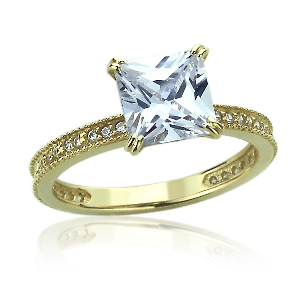 Carat Princess Cut Solitaire Diamond Ring