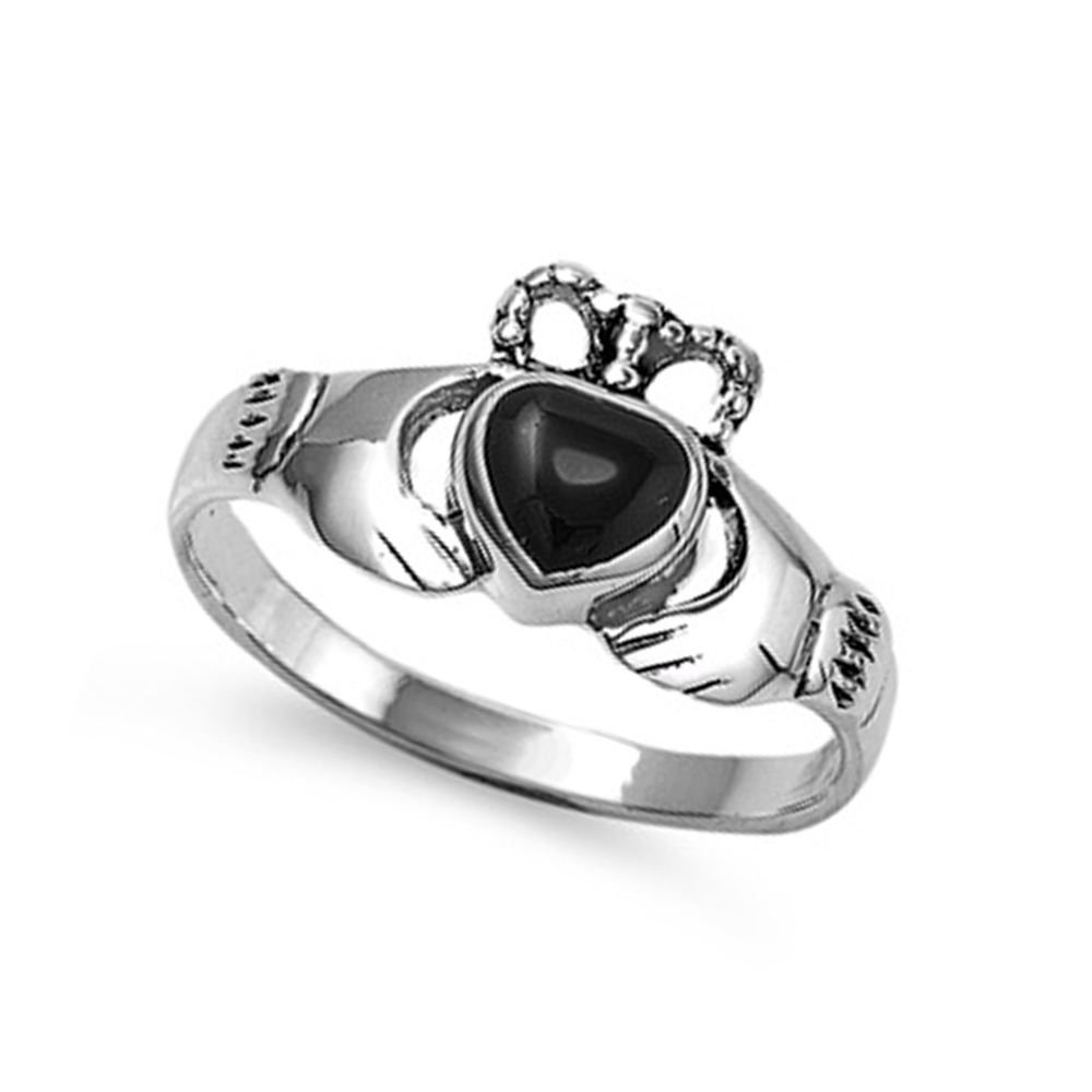 women 10mm 925 sterling silver simulated black onyx heart. Black Bedroom Furniture Sets. Home Design Ideas